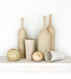 Ceramic Still Life for Your Mantle, interior design interior decorating before and after design house interior design interior design 2012 home design interior room design Glass Ceramic, Ceramic Clay, Ceramic Pottery, Bohemian Living, Modern House Design, Modern Interior Design, Wabi Sabi, Contemporary Vases, Sculptures Céramiques