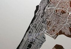 Karen O'Leary | Handcut New York City map