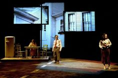 Death of a Salesman Teatro Espanol. Set design by Miguel Angel Coso, Juan Sanz.