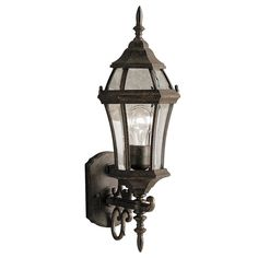 Kichler Townhouse 21.5-in H Tannery Bronze Outdoor Wall Light