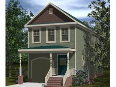 Victorian House Plans | Affordable Victorian Home Plan Fits Narrow ...