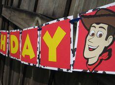 Items similar to Disney Pixar's Toy Story Woody Birthday Banner on Etsy