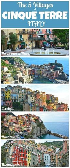 The 5 Villages Of Cinque Terre Is Definitely A Location In Italy You'll Want To Put On Your Italian Itinerary This Super Helpful Guide Will Give You All Of The Information You Need For Planning Your Dream Trip To Cinque Terre, Italy. Italy Vacation, Vacation Destinations, Dream Vacations, Italy Trip, Vacation Places, Holiday Destinations, Dream Trips, The Places Youll Go, Places To See