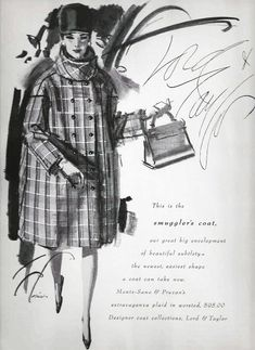 Easy Shape, 1960s Fashion, Department Store, Lord & Taylor, Retail, Plaid, Beautiful, Design, Gingham