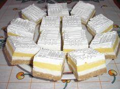 Ezt nem lehet elrontani és még csak sütni sem kell! Hozzávalók 1. réteg: 50 dkg darált keksz, 10 dkg margarin, 10 dkg porcukor, kevés tej (én kb. 2 dl-t öntöttem hozzá apránként) 2. réteg: 25 dkg túró, ízlés szerint cukor, 2 dl tejszín... Hungarian Desserts, Hungarian Cake, Romanian Desserts, Hungarian Recipes, No Bake Desserts, Delicious Desserts, Dessert Recipes, Sweet Cookies, Cake Cookies