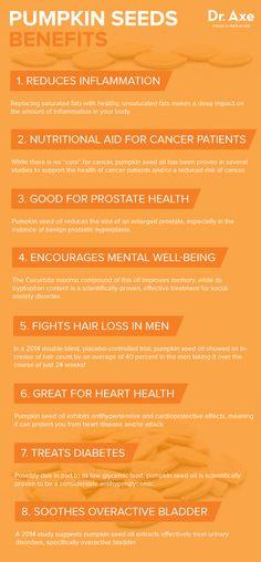 Pumpkin seed oil benefits - Dr. Axe http://www.draxe.com #health #holistic…