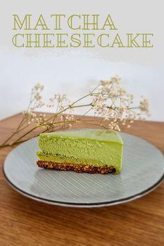 Matcha Cheesecake that melts in mouth Matcha Tea Powder, Traditional Bowls, Matcha Cake, Organic Matcha, Healthy Drinks, Cheesecake, Stuffed Peppers, Japanese, Cheesecakes