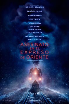You are watching the movie Murder on the Orient Express on Putlocker HD. Genius Belgian detective Hercule Poirot investigates the murder of an American tycoon aboard the Orient Express train. Agatha Christie, Hercule Poirot, Michelle Pfeiffer, Orient Express, Daisy Ridley, Johnny Depp, New Movie Posters, Film Posters, Watch Free Movies Online