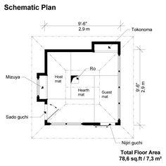 japanese tea house dimensions - Google Search | Tea House ...