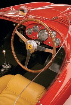 Interior of a 1954 Ferrari 375+. (10) A 1965 Ferrari P2/3.