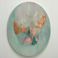 La Soufriere, oil on canvas. More volcanic studies. #art #arte #oilpainting #volcano #oval #lasoufriere #lasoufrierevolcano