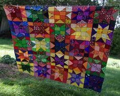 Sane, Crazy, Crumby Quilting Bright Quilts, Flying Geese, Triangles, Color Combos, Quilting, Diy Crafts, Stars, Sewing, Craft