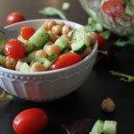 Easy Chickpea Garlic Vinaigrette Salad