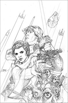 Star Wars: Shattered Empire 1 Variant Cover Pencil by TerryDodson on DeviantArt