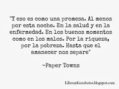 paper towns frases - Buscar con Google