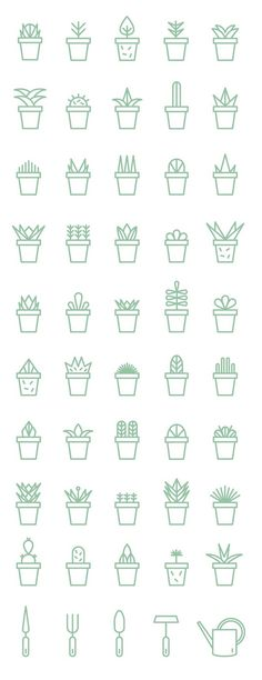 How to draw and doodle succulents for your bullet journal, planner or sketchbook. - Bullet journal İdeas in 2019 Icon Design, Web Design, Logo Design, Resume Design, Flat Design, Design Layouts, Icon Set, Sketch Note, Painted Flower Pots