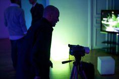 A brush with technology, pattern of visual white noise, high definition LED TV, Wedgwood, Seattle, Washington, USA 0446 by Wonderlane