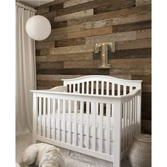 Rustic Nursery Room Decor with Neutral Reclaimed Wood Wall Ideas, Dark Reclaimed Oak Wood Wall Construction, Dark Reclaimed Oak Wood Wall Construction, and Round Shaped White Pendant Lamp, 10 designs in Reclaimed Wood Wallpaper gallery Look Wallpaper, Wall Art Wallpaper, Nursery Wallpaper, Wallpaper Gallery, Mural Wall, Wood Wall Nursery, Nursery Room Decor, Nursery Ideas, Rustic Nursery Boy