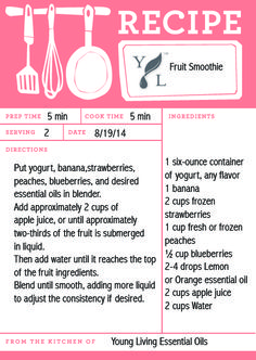 Try this delicious fruit smoothie for the perfect after school snack! #BacktoSchoolwithYL #IntheKitchenwithYL