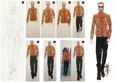 Fashion Illustration of menswear trends Etro