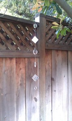 Garden Reflections Hanging Garden Mirrors by DillsDesigns on Etsy - but I'll try it myself first!