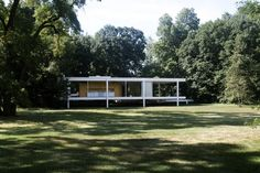 Mies van der Rohe's The Farnsworth HousePlano, IllinoisDesigned by Mies van der Rohe in 1945, the Farnsworth house was built in 1951 as a country retreat for Dr. Edith Farnsworth. Featuring continuous glass walls suspended from steel columns, the home is a prime example of the International Style of architecture. #refinery29 http://www.refinery29.com/iconic-american-homes-architecture#slide-5