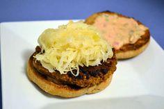 Reuben Burger and a Brew