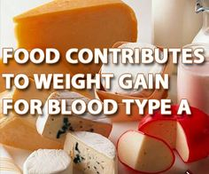 Food contributes to weight gain for blood type A... Yay thanks .... Us A types are pretty much screwed.... And us A negative types are pretty pissed off about that