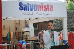 Lynette Bolton officially opening the Salvonista Mobile Boutique.