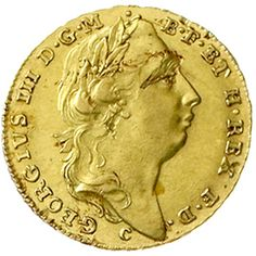 // Georg III. 1760-1820. Georgs d`or (5 thaler) gold 1768 C Hanover. Brustb. With laurel wreath clockwise / gekr., vierfeldiges coat of arms. 6,70 g. Welter 2789, Friedberg 617. good extremley fine, small planchet fault, extremely rare    Dealer  Teutoburger Münzauktion & Handel GmbH    Auction  Minimum Bid:  8000.00 EUR