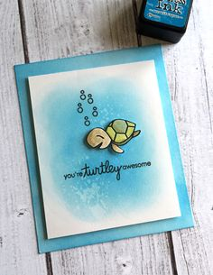 Turtley awesome card using Paper Smooches Courteous Cuties stamp set.