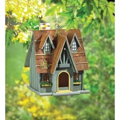 Thatch Roof Chimney Birdhouse-Save up to an additional $20 with promo code SHOP11