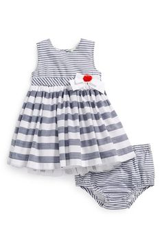Little Me Woven Dress & Bloomers (Baby Girls) available at #Nordstrom