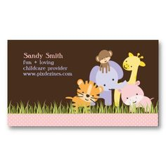 20 Best Child Care Business Cards Images On Pinterest Child Care
