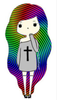 Rainbow haired Chibi girl (credit to @TheBestFangirl