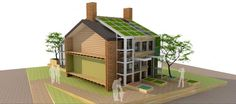 In showcasing the concept, the team of 46 students will fit the skin onto a model home bas...