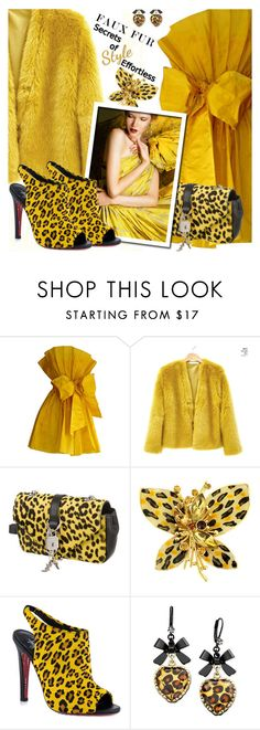 """""""FAUX FUR COATS"""" by shoaleh-nia on Polyvore featuring Yves Saint Laurent, TaylorSays and Betsey Johnson"""