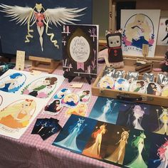 A quick pic of my table display from the Sailor Moon Celebration on Saturday! I had so much fun and met so many amazing people! ;___; ♡