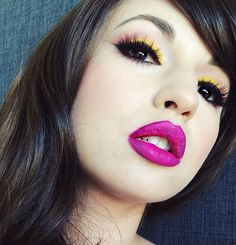 Love the yellow eyeshadow and pink lip x