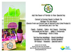 Wedding favors and welcome bags with the taste of Florida! Great for a Key West destination wedding, or any wedding that needs a little sunshine!!  keylimeshop.com