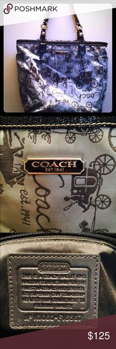 🎀Authentic Coach bag!🎀 This is a beautiful coach shoulder bag. It has a zipper to close up the bag and a large pocket in the back. There is also two smaller pockets on the inside to hold keys, phone, Chapstick etc. it has a little wear on the back of bag. There is no other signs of use on any other part of the bag. Beautiful blue color and great design. Any questions please ask! Excepting all offers!🌺 Coach Bags Shoulder Bags