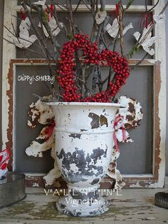 With Valentine's Day less than a month away, my Seasonal Entry Vignette - Popped up over the weekend. I'm sooooo glad I cut my much need. My Funny Valentine, Valentine Day Love, Valentine Day Crafts, Vintage Valentines, Valentine Ideas, Homemade Valentines, Seasonal Decor, Holiday Decor, Valentine Wreath