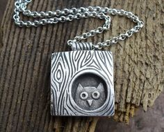 Owl necklace! Too cute.