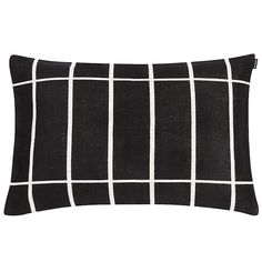 Marimekko's Tiiliskivi cushion cover features the simple grid pattern Armi Ratia designed in 1952. Timeless Tiiliskivi is not only perfect for minimalist interiors, but also creates an intriguing contrast with rich and colourful patterns.