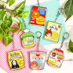 Mystic Messenger Memes Discover Studio Ghibli Snack Acrylic Keychains // Double-sided Kikis Delivery Service Totoro No Face Calcifer Ponyo Radish Spirit Jiji Kiki Delivery, Kiki's Delivery Service, Acrylic Keychains, Acrylic Charms, Clear Acrylic, Totoro, Art Studio Ghibli, Studio Ghibli Characters, Tsuyu