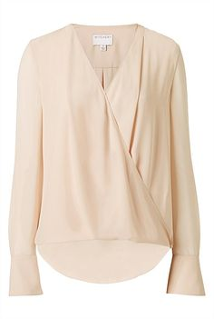 Witchery - Contrast Wrap Shirt - Nude - $110 Wrap Shirt, Kids Outfits, Personal Style, Kids Fashion, Contrast, Blouse, Shirts, Nude, Clothes