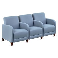 Parkside Three Seater with Center Arms in Polyurethane or Fabric // NBF Signature Series Parkside Collection