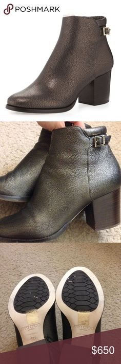 Jimmy choo method ankle booties Metallic Mocha brown. Staple of the closet. Size 7.5. Great condition except for some minor creasing of the leather. Jimmy Choo Shoes Ankle Boots & Booties