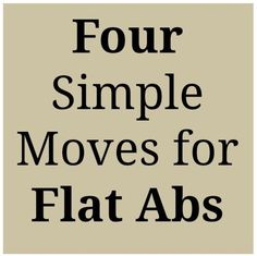 4 Simple Moves For Flat Abs  #Health #Fitness #Trusper #Tip