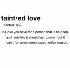 unrequited love, perhaps